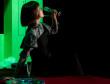 """Ensaio de imprensa de """"As Lágrimas Amargas de Petra Von Kant"""" de Rainer Werner Fassbinder. Encenação de António Ferreira, com interpretação de Custódia Gallego e Inês Castelo-Branco e outras. Estreia no Teatro D. Maria II de 15/9."""