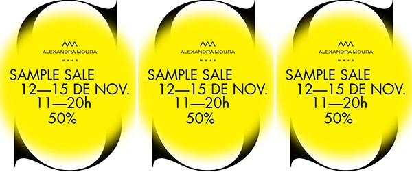 SAMPLE SALE | ALEXANDRA MOURA