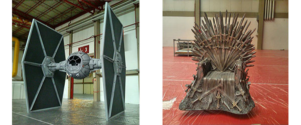 Tie Fighter Star Wars & Trono - Game of Thrones