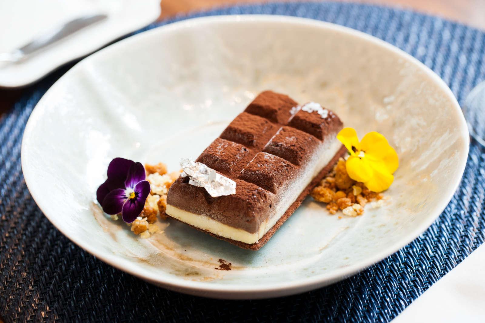 O chocolate e o azeite numa tablete