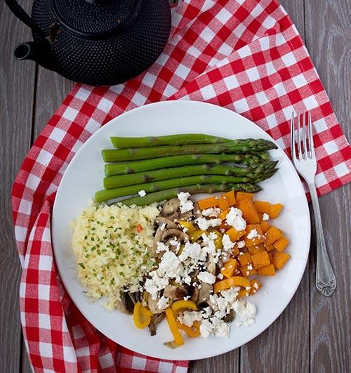 Comer Saudável - Legumes Assados com Feta