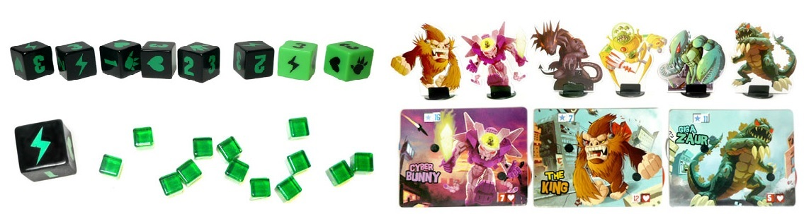 King of Tokyo - Componentes.