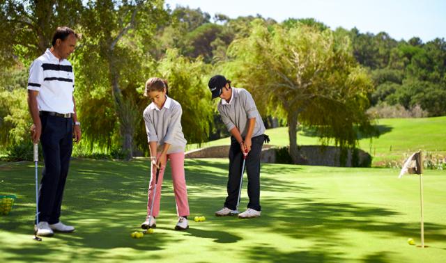 Torneio de golfe para pais e filhos no Penha Longa