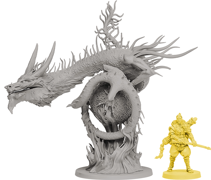 River Dragon e miniatura do Bonsai clã
