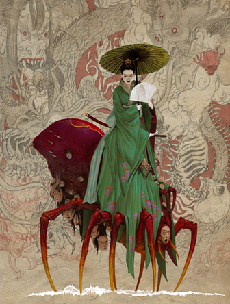 Jorogumo - Arte de Adrian Smith
