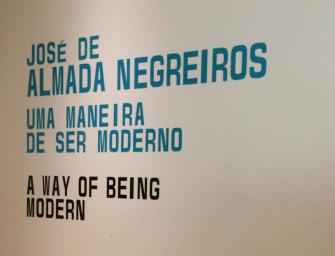 José de Almada Negreiros no Museu Calouste Gulbenkian