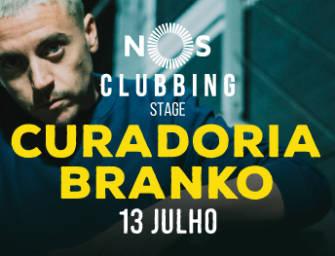 Branko com a curadoria do NOS Clubbing no dia 13 de Julho